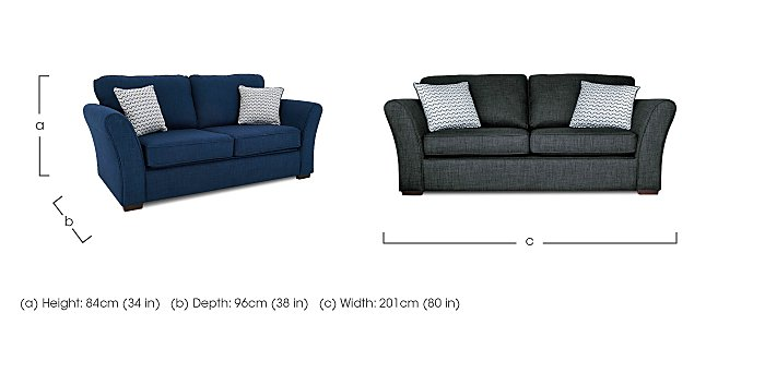 Twilight 3 Seater Fabric Sofa in  on FV