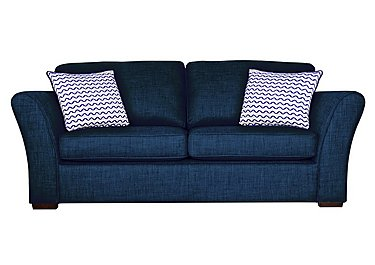 Twilight 3 Seater Fabric Sofa in Lily Navy - Dark Feet on FV