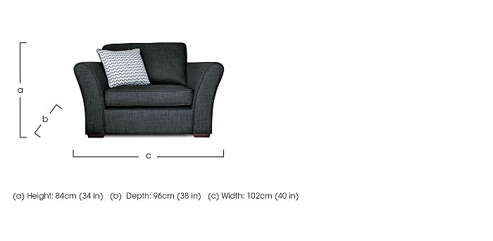 Twilight Fabric Armchair  in {$variationvalue}  on FV