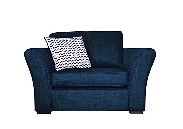 Twilight Fabric Armchair in Lily Navy - Dark Feet on FV