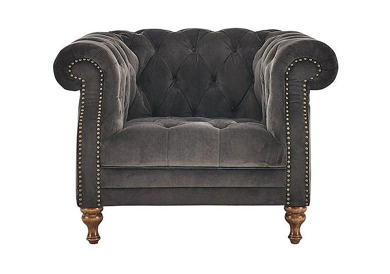 New England Yale Fabric Armchair