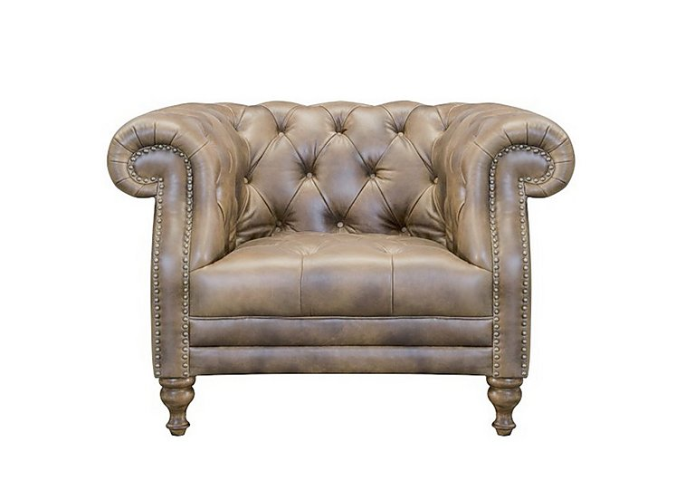 New England Yale Leather Armchair