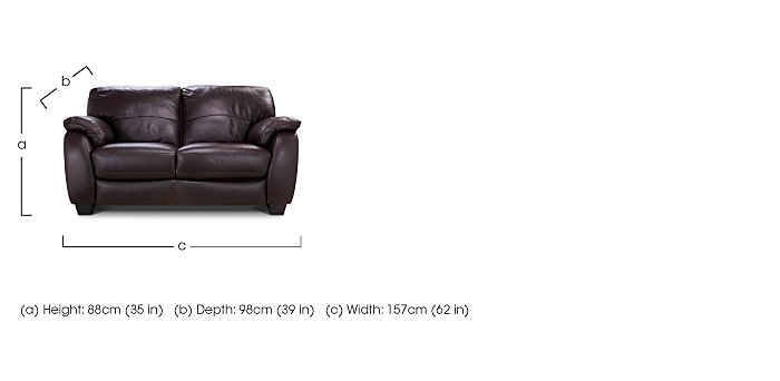 Moods 2 Seater Leather Sofa in  on FV