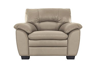 Blaze Leather Armchair in Bv8475 Nude on FV