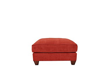 Tangier Fabric Footstool in Cosmo Spice - Dark Feet on FV