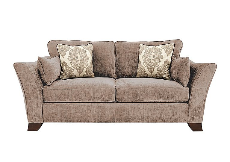 Annalise 3 Seater Fabric Sofa in Sherlock Mink Dark Feet on Furniture Village