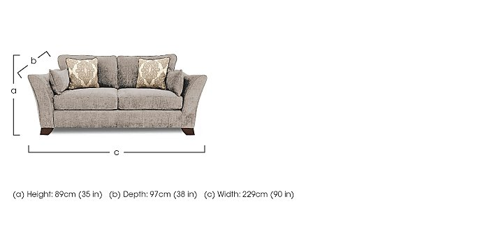 Annalise 4 Seater Fabric Sofa in  on FV
