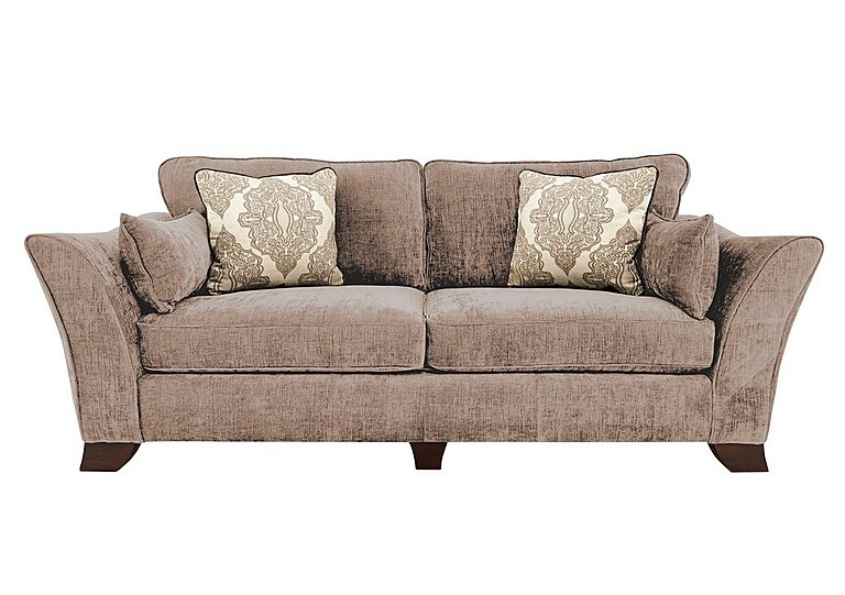 Annalise 4 Seater Fabric Sofa in Sherlock Mink Dark Feet on FV