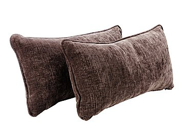 Annalise Pair of Bolster Cushions in Sherlock Nutmeg on Furniture Village