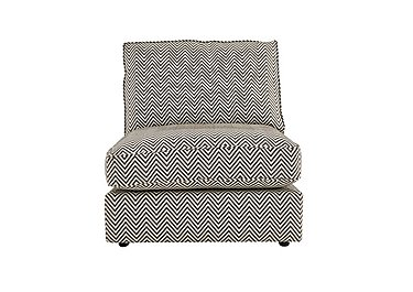 Harlequin Armless Single Fabric Unit in Manhattan Chevron Charcoal on Furniture Village