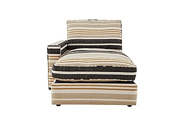 Harlequin Fabric Chaise End Unit in Manhattan Wide Stripe Charcoal on FV
