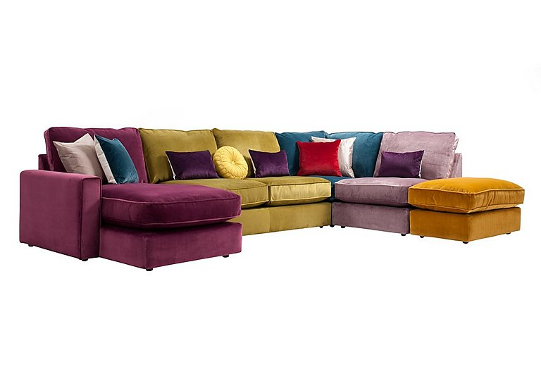 Harlequin Fabric Corner Sofa