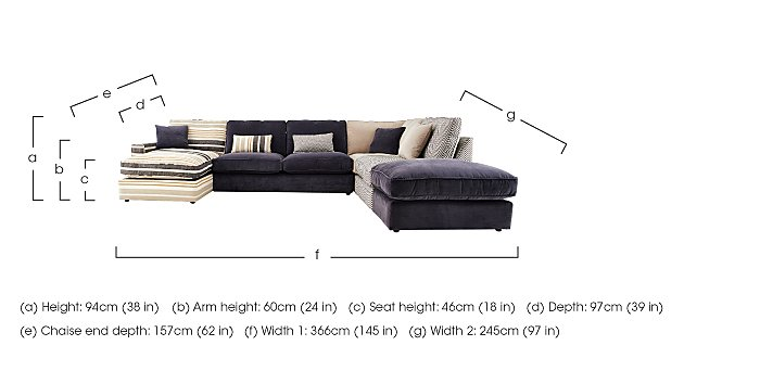 Harlequin Fabric Corner Sofa in  on Furniture Village
