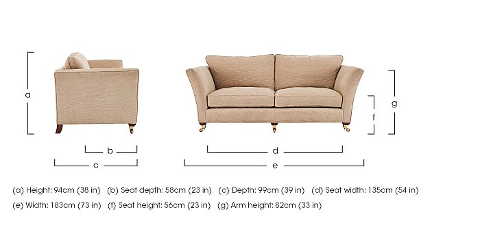 Vantage 2 Seater Fabric Sofa in  on FV