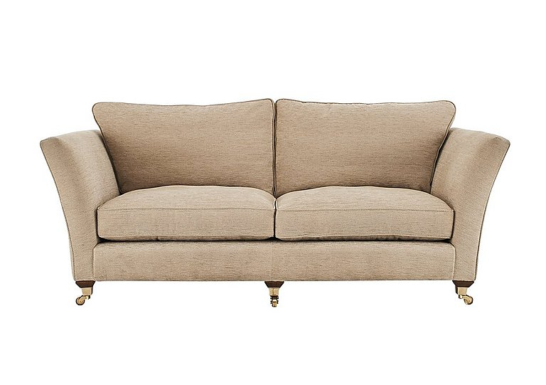 Vantage 3 Seater Fabric Sofa in Claudia Plain Natural-Ant Bras on FV