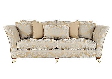 Vantage 4 Seater Fabric Sofa in Boemia Damask Gold- Ant  Brass on FV