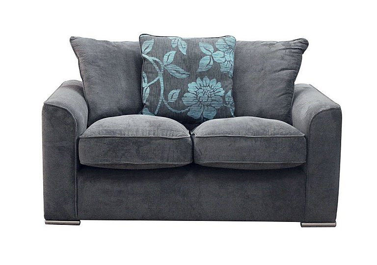 Boardwalk 2 Seater Fabric Sofa in Waffle Steel / Lily Teal on FV