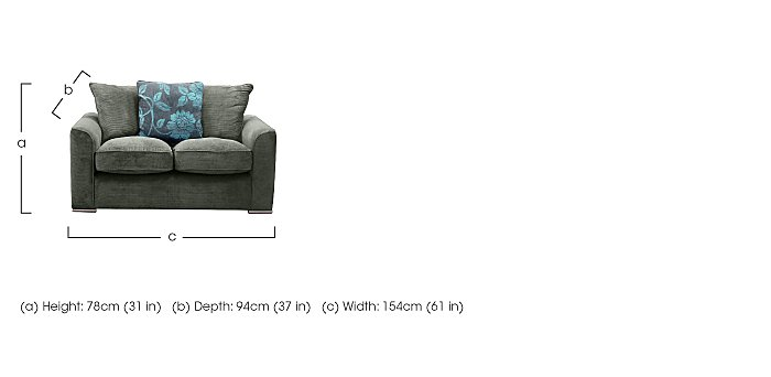 Boardwalk 2 Seater Fabric Sofa in  on FV