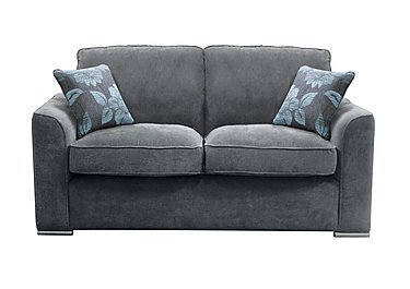 Boardwalk 3 Seater Fabric Sofa in Waffle Steel on Furniture Village