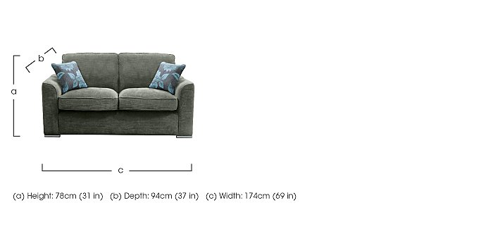 Boardwalk 3 Seater Fabric Sofa in  on FV