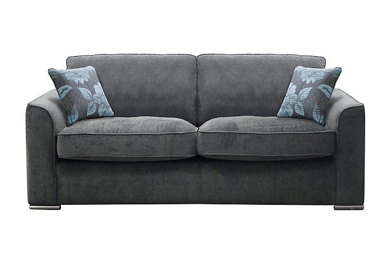 Boardwalk 4 Seater Fabric Sofa in Waffle Steel on FV