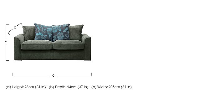 Boardwalk 4 Seater Fabric Sofa in  on FV