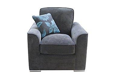 Boardwalk Fabric Armchair in Waffle Steel / Waffle Steel on Furniture Village
