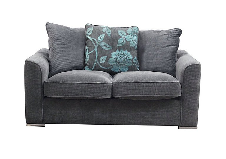 Boardwalk Standard Fabric Sofa Bed in Waffle Steel / Lily Teal on FV