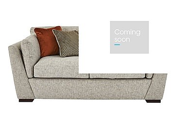 Bailey 2 Seater Fabric Sofa in Alfa Natural Dark Feet on FV