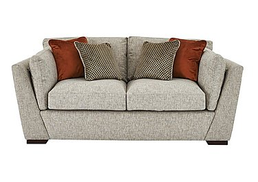 Bailey 2 Seater Fabric Sofa in Alfa Natural Dark Feet on FV