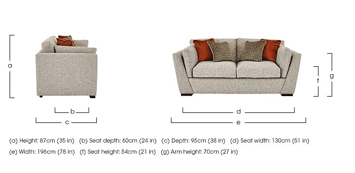 Bailey 2 Seater Fabric Sofa in  on FV