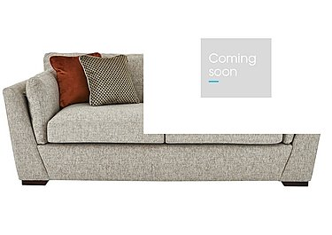 Bailey 3 Seater Fabric Sofa in Alfa Natural Dark Feet on FV