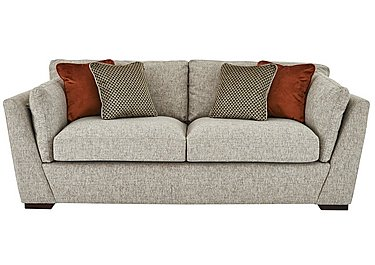 Bailey 3 Seater Fabric Sofa in Alfa Natural Dark Feet on FV