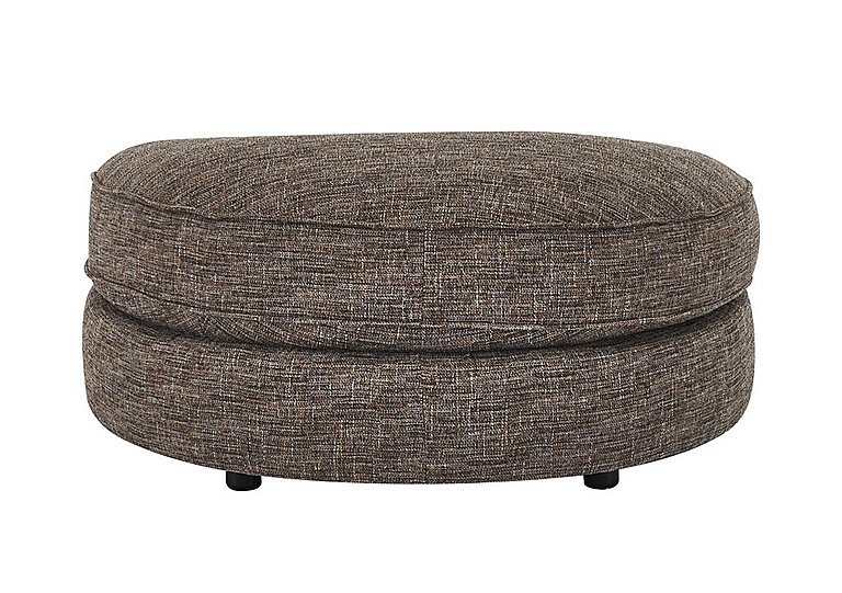 Bailey Fabric D Shaped Footstool in Alfa Chestnut Dark Feet on FV