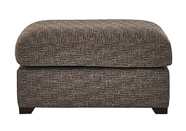 Bailey Fabric Footstool in Alfa Chestnut Dark Feet on FV