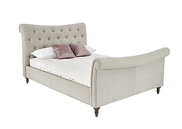 Chester Upholstered Bed Frame in Malva Linen on FV