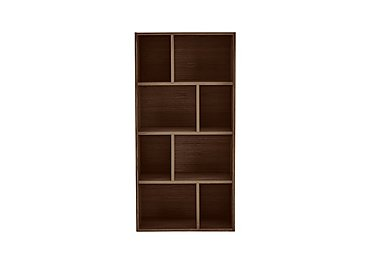 Stack Small Bookcase in Dark Oak on Furniture Village