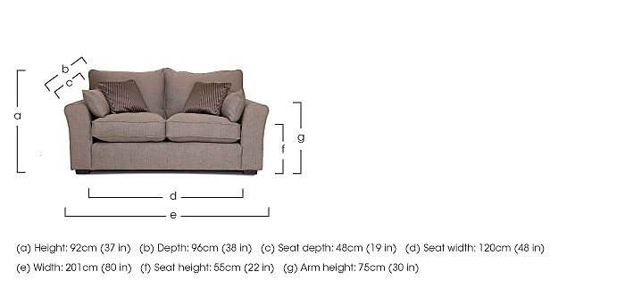 Remus 2 Seater Fabric Sofa  in {$variationvalue}  on FV