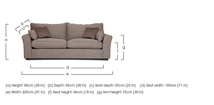 Remus 4 Seater Fabric Sofa in  on FV
