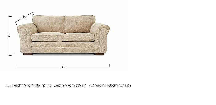 Devlin 2 Seater Fabric Sofa in  on FV