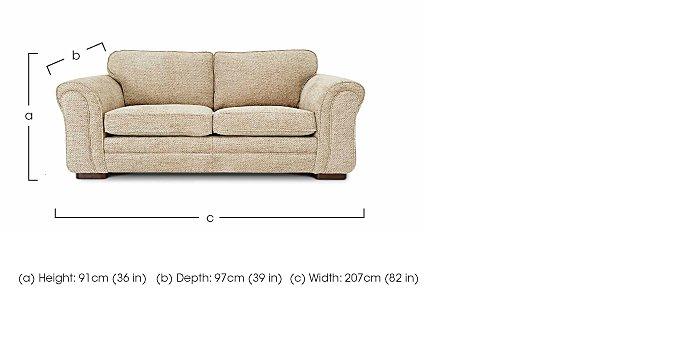 Devlin 3 Seater Fabric Sofa