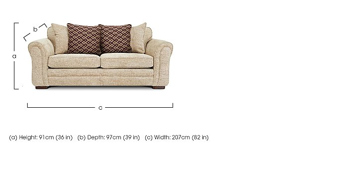 Devlin 3 Seater Fabric Sofa in  on FV