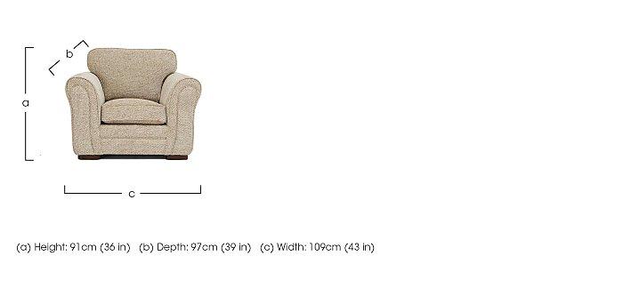 Devlin Fabric Armchair in  on FV