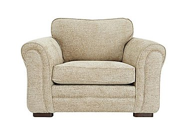 Devlin Fabric Snuggler Armchair in Aztec Plain Beigh - Dark Feet on FV