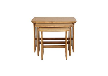 Windsor Nest of Tables in Straw Finish (St) on FV