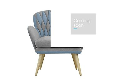 Freja Fabric Armchair in 311 581 Grey And Pigeon Blue on FV