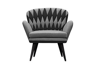 Freja Fabric Armchair in 583 581 Grey And  Anthracite on FV