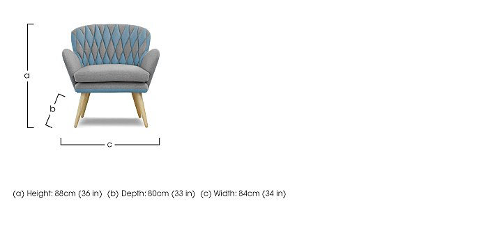 Freja Fabric Armchair in  on FV