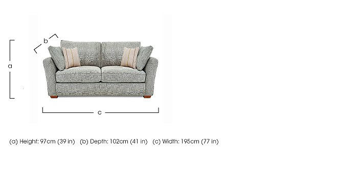 Otto 2 Seater Fabric Sofa in  on FV