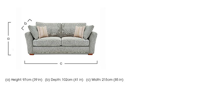 Otto 3 Seater Fabric Sofa in  on FV